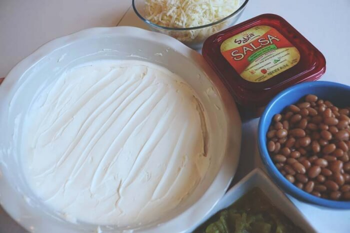 hot cheese and bean dip