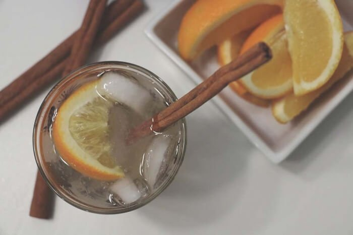 spiced orange fizz vodka gingerale