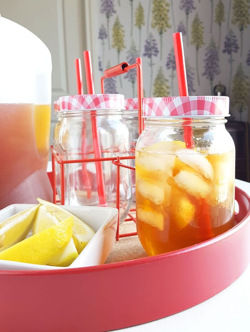 spiked ice tea with gingerale