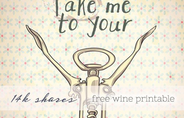 wine printable slider