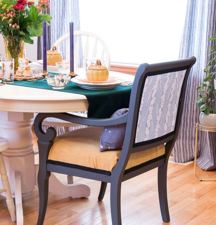 A dining chair double flip