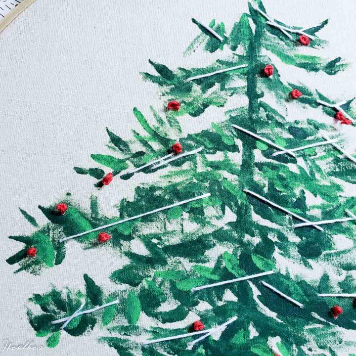 Christmas Tree Hoop Art
