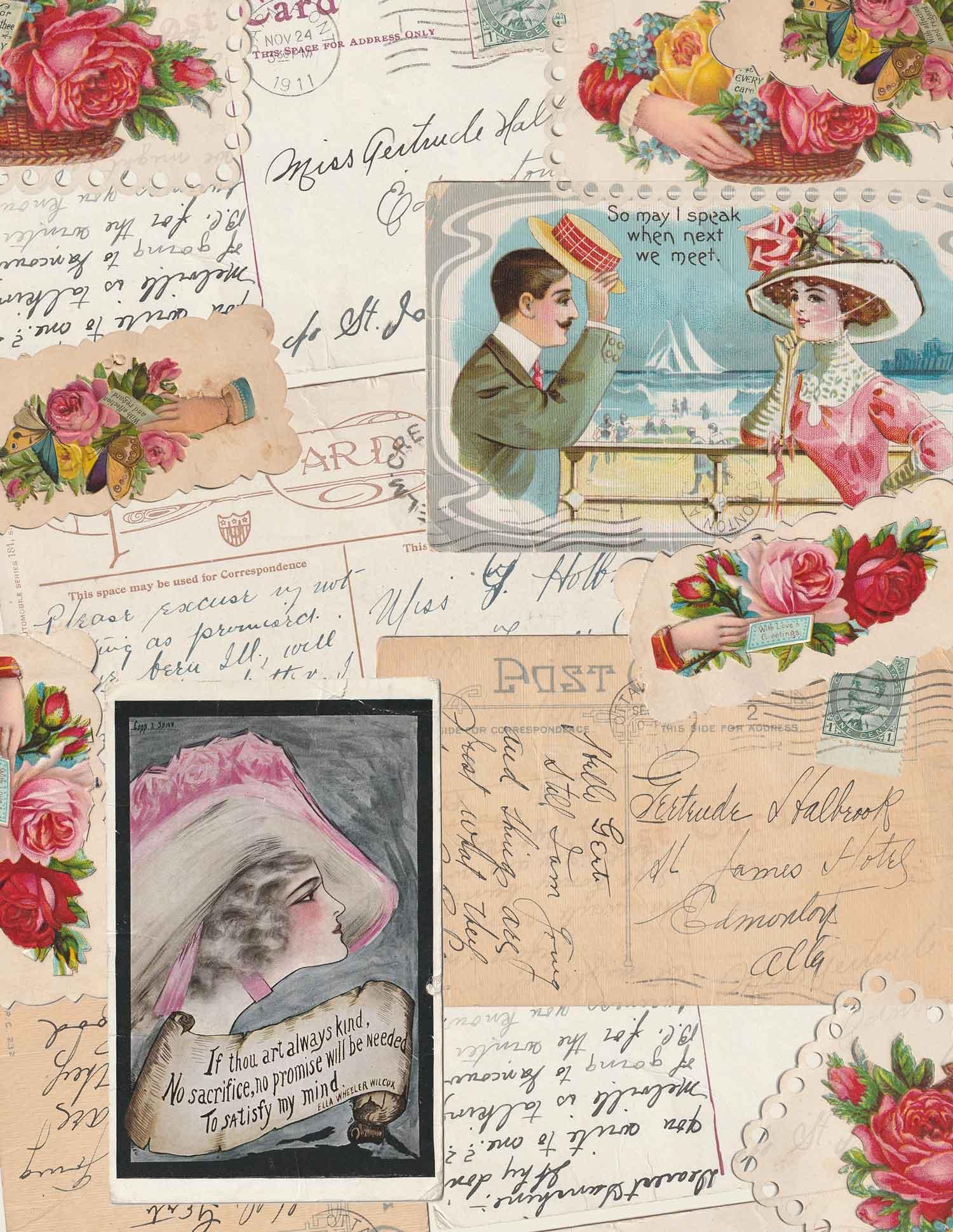 Victorian Ephemera Digital Paper Craft Kit